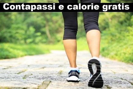 Contapassi e calorie gratis