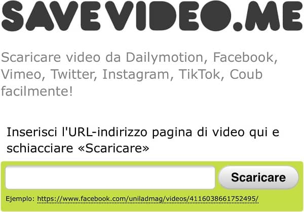 Scaricare video da Facebook