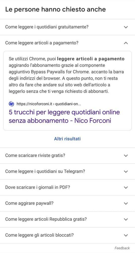 Come essere in prima pagina su Google